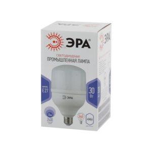 Лампа LED колокол холодный свет ЭРА 30W 6500 E27