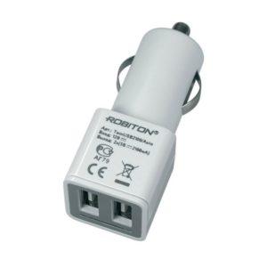 Автомобильный адаптер с 2 USB-разъемами ROBITON