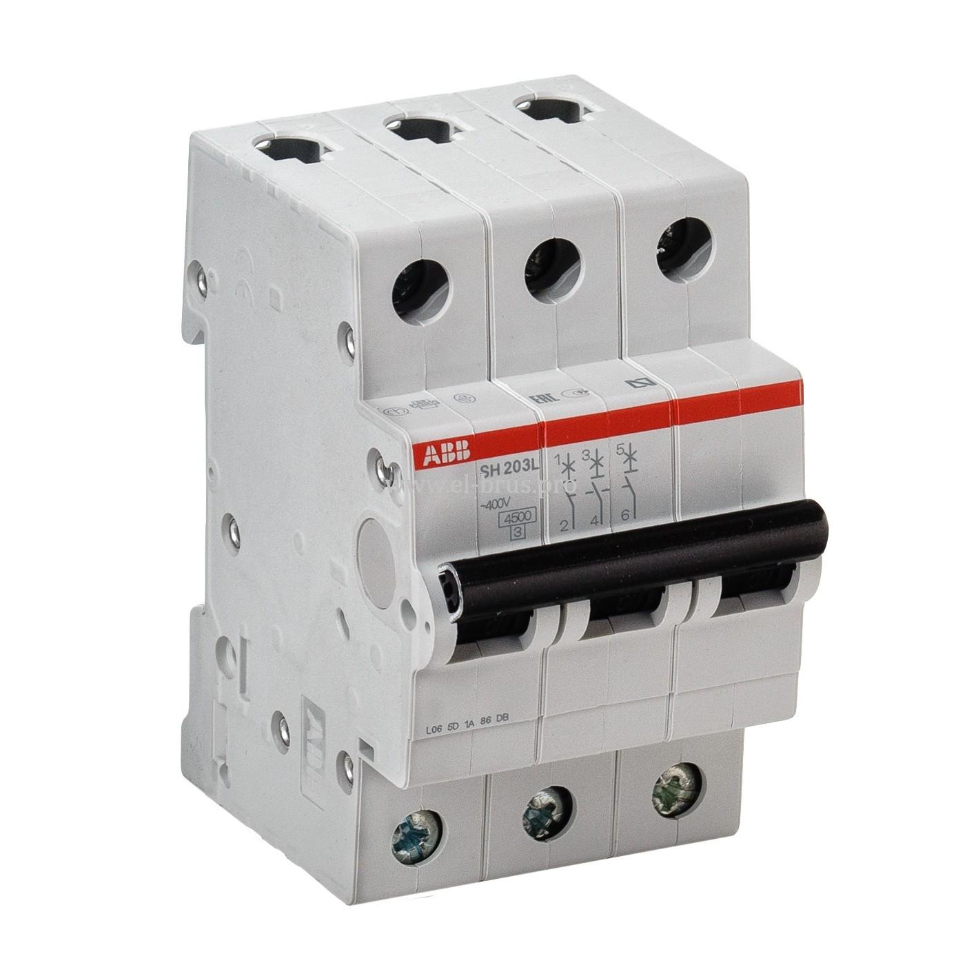 Автомат ABB SH203L 3Р C50