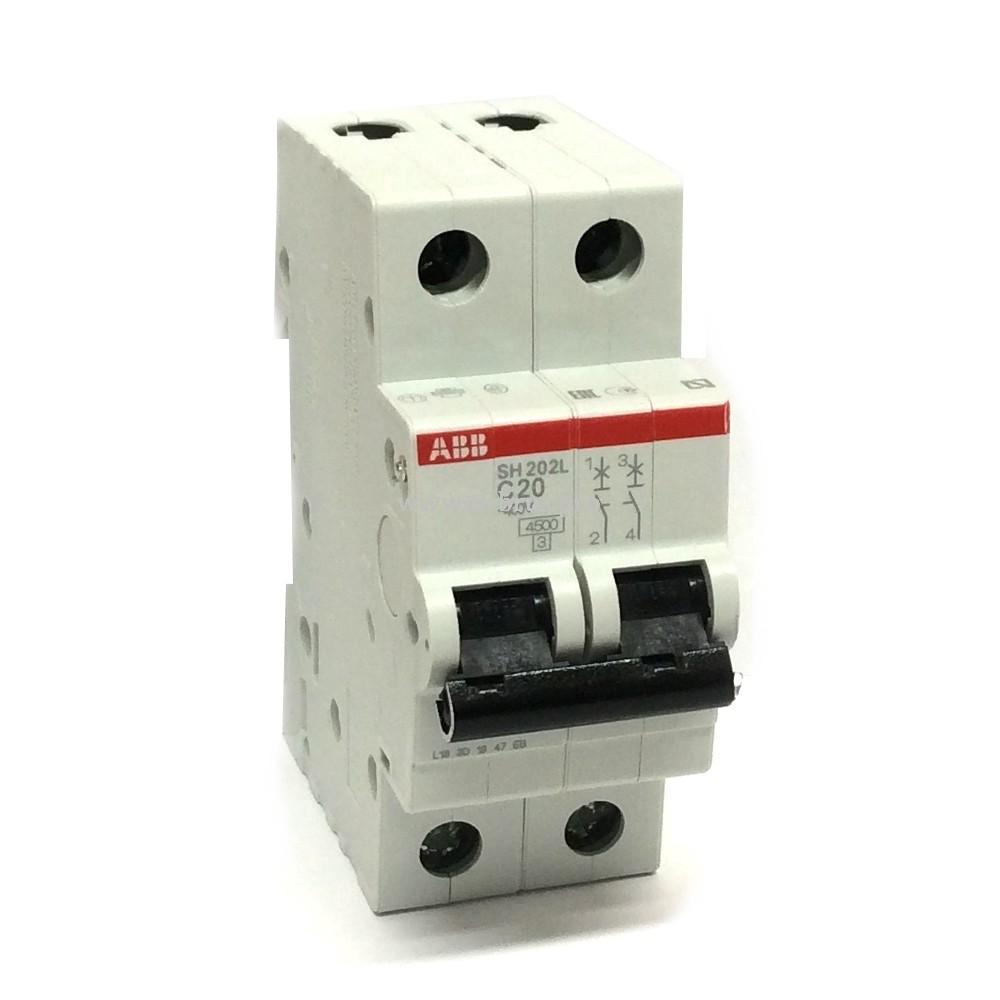 Автомат ABB SH202L 2Р C20