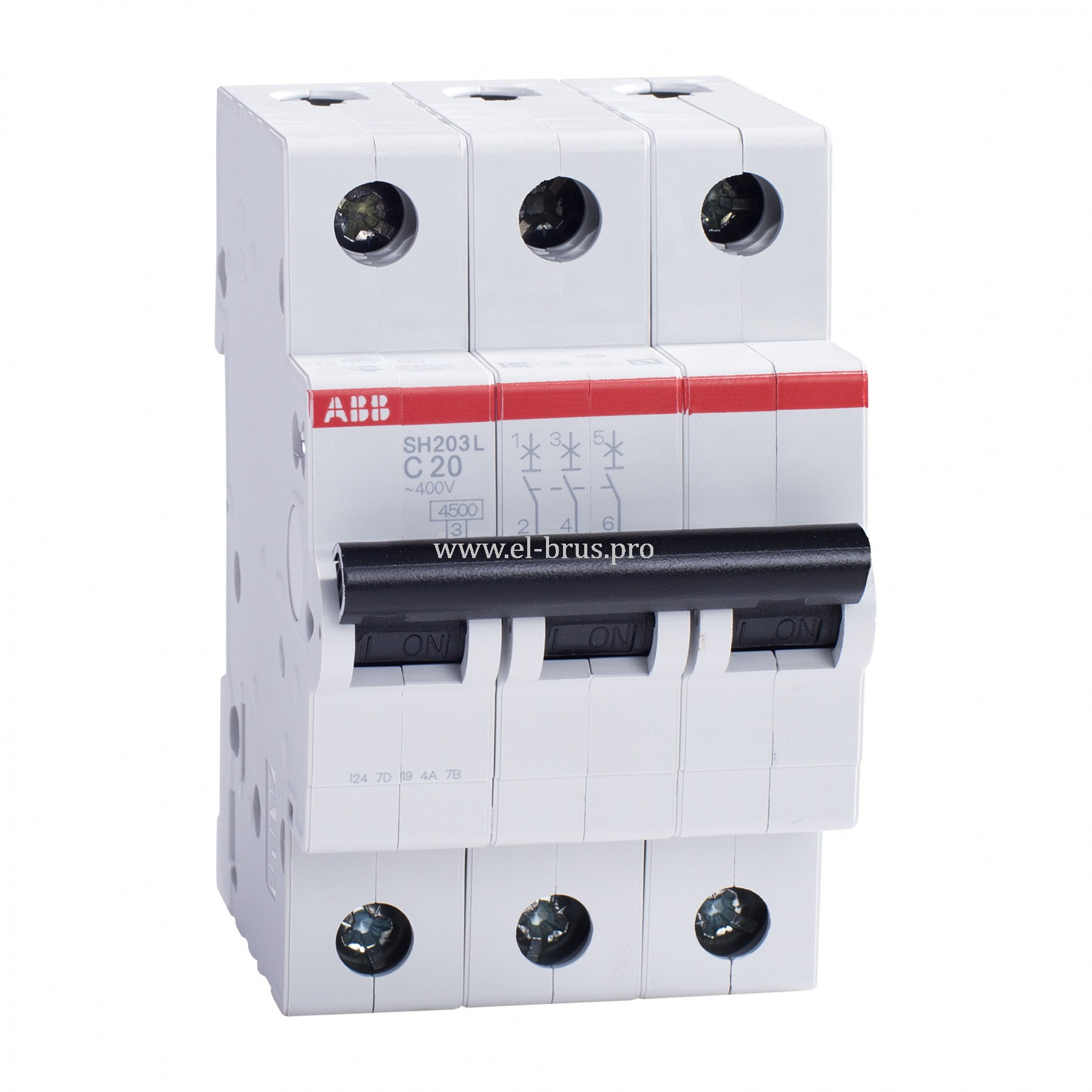 Автомат ABB SH203L 3Р C20