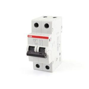 Автоматический выключатель двухполюсной ABB SH202L C16