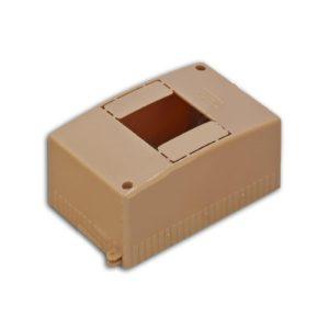 Бокс о/у на 4 модуля коричневый RUVINIL Тусо
