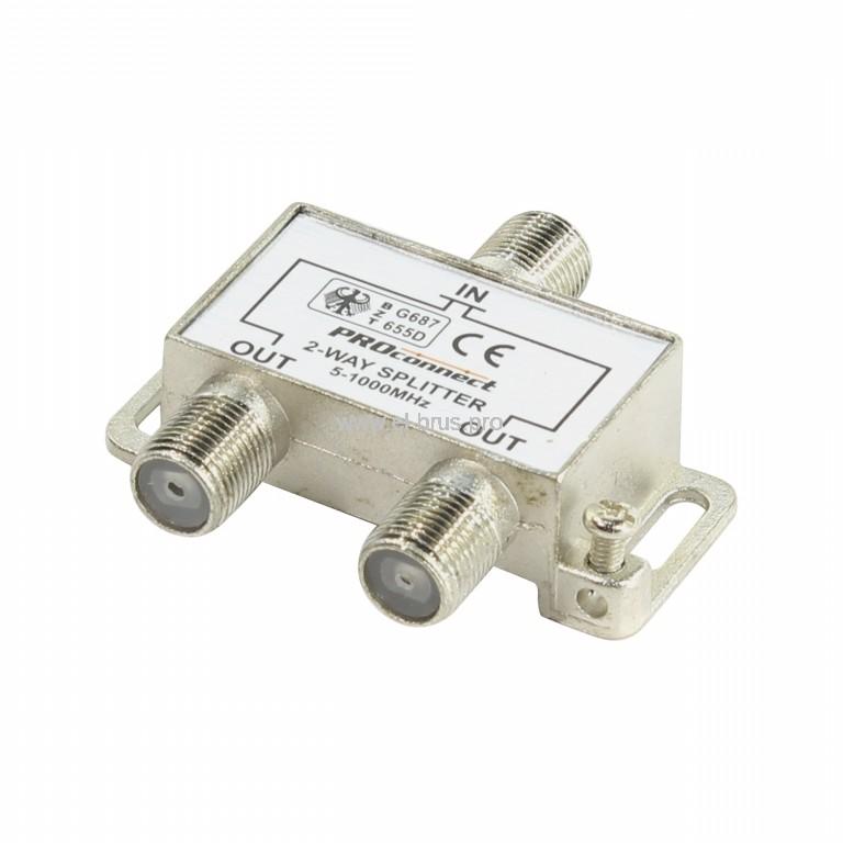 Делитель 2хТВ под F-разъем 5-1000МГц PROconnect