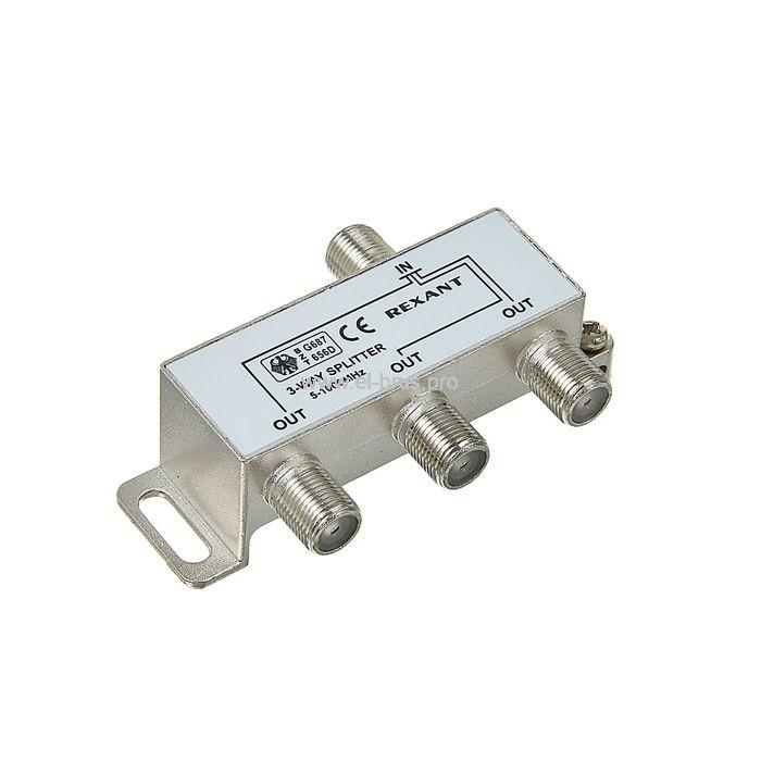 Делитель 3хТВ под F-разъем 5-1000МГц PROconnect