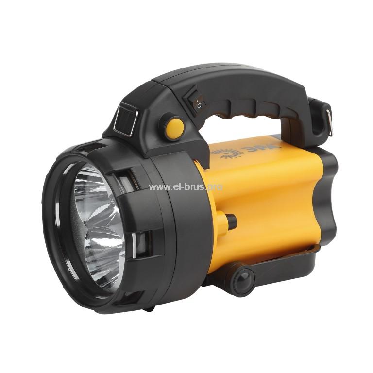 Фонарь  3 LED аккум. с сигнальной лампой ЭРА РА-604