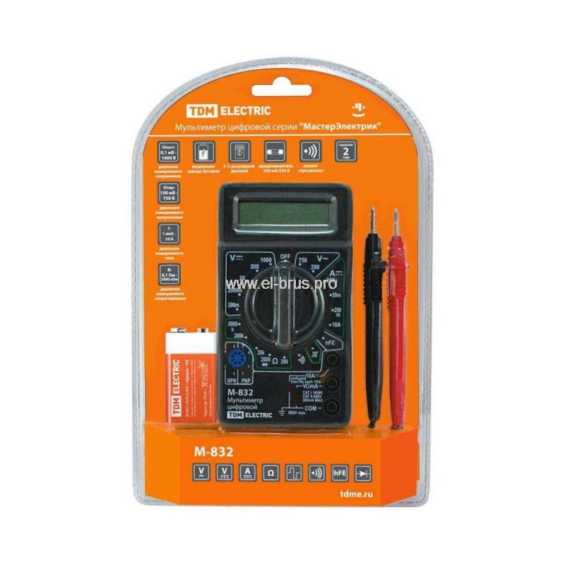 Мультиметр цифровой TDM Мастер Электрик M832