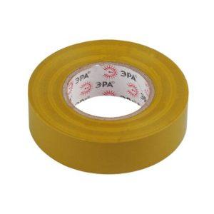 Изоляционная лента на ПВХ-основе 19мм х20м желтая ЭРА