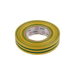 Изоляционная лента на ПВХ-основе 19мм х20м желто-зеленая ЭРА