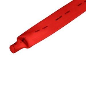 Термоусадочная трубка 12,0/6,0мм красная REXANT 1м