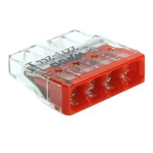 Клемма на 4 провода с пастой WAGO