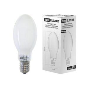 Лампа ртутная высокого давления прямого включенияTDM ДРВ Е27 160Вт