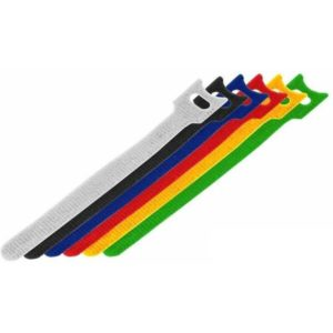 Набор цветных хомутов на липучке 150мм REXANT 12шт