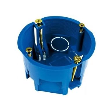 Коробка устан. по ГКЛ 1-я синяя 68х45мм