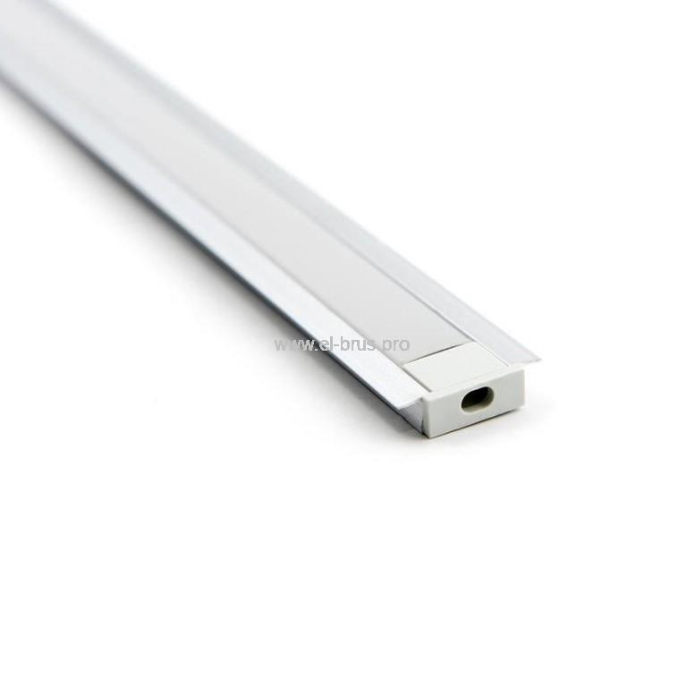 Комплект с врезным профилем для LED ленты 21ммх6ммх2м