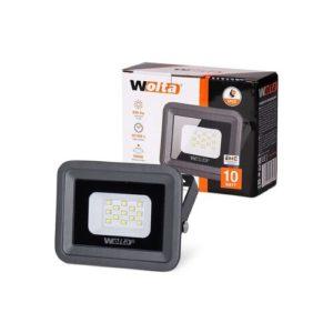 Прожектор LED  10W 5500K IP65 черный WOLTA