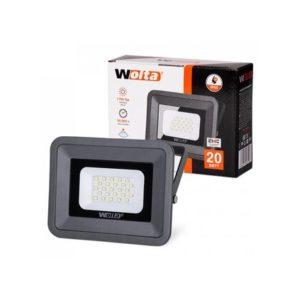 Прожектор LED  20W 5500K IP65 черный WOLTA/ЭРА