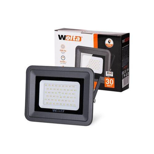 Прожектор LED  30W 5500K IP65 темно-серый WOLTA
