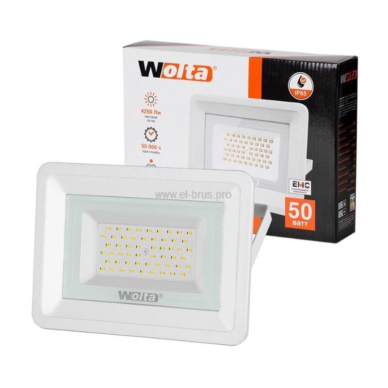 Прожектор LED  50W 5500K IP65 белый WOLTA
