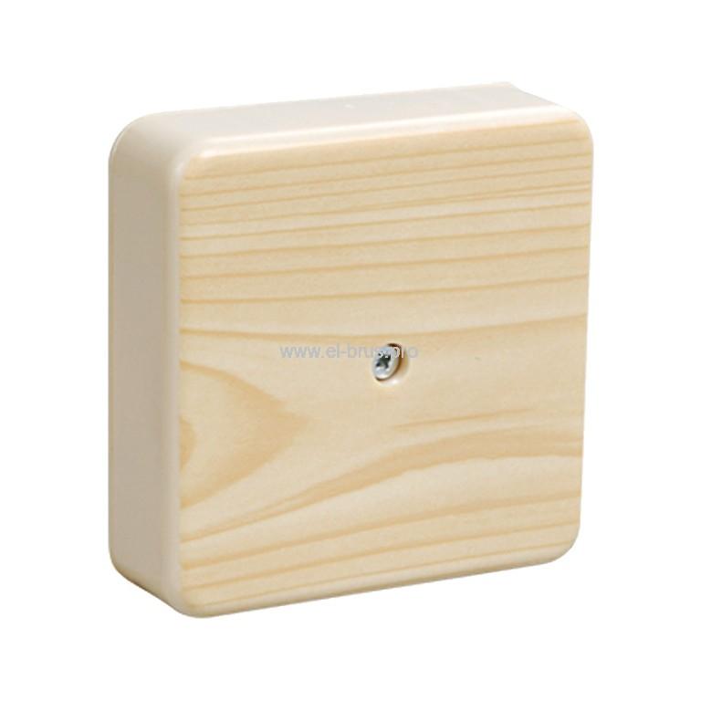 Распаячная коробка ОП IP40 сосна TDM 75х75х20мм