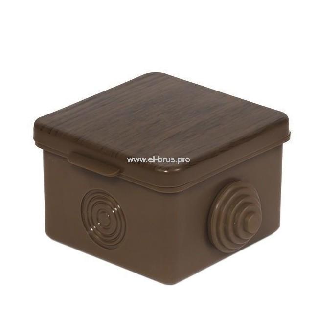 Распаячная коробка ОП IP54 бук TDM 65х65х50мм