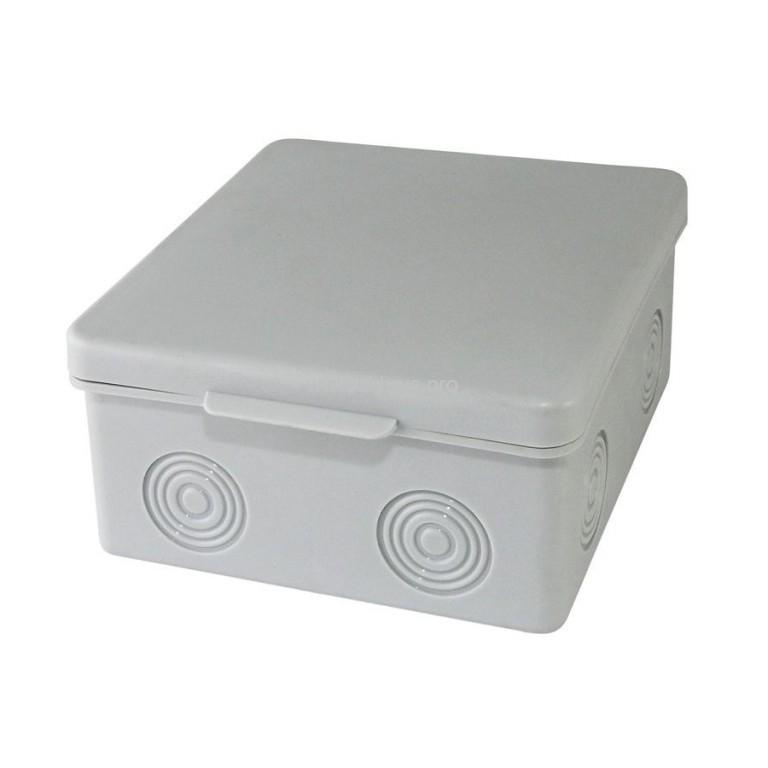 Распаячная коробка ОП IP54 серая TDM 100х100х55мм