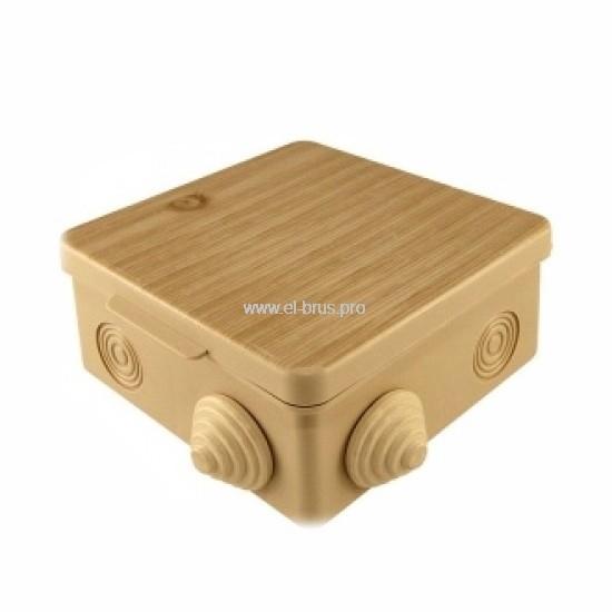 Распаячная коробка ОП IP54 сосна TDM 80х80х50мм