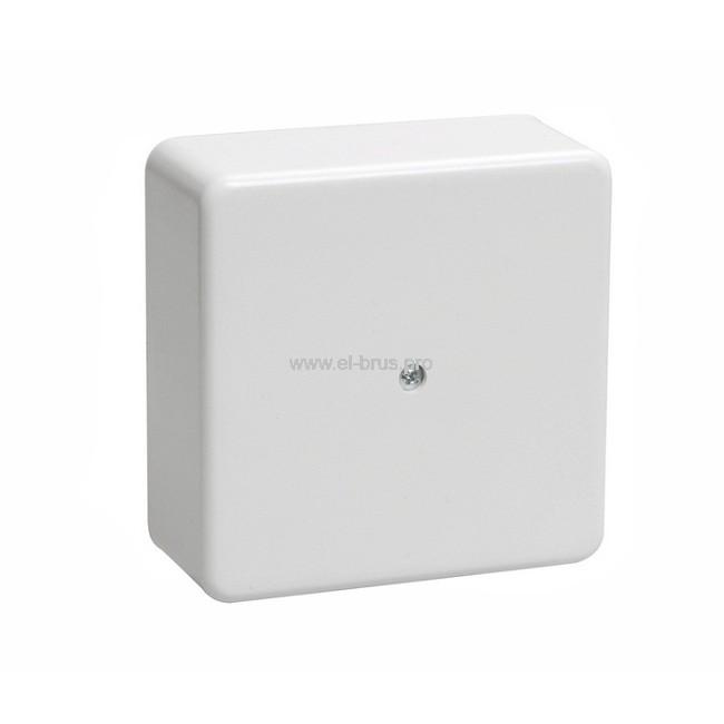 Распаячная коробка ОП IP40 белая ТУСО 80х80х25мм