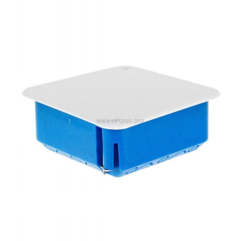 Распаячная коробка д/полых стен метал. лапки СП IP20 синяя ТУСО 100х100х45мм