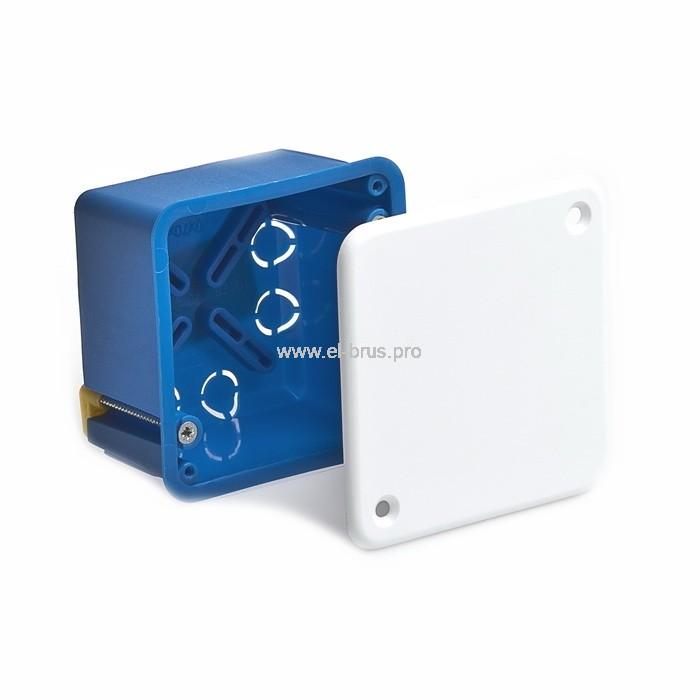 Распаячная коробка д/полых стен метал. лапки СП IP20 синяя ТУСО  70х70х45мм