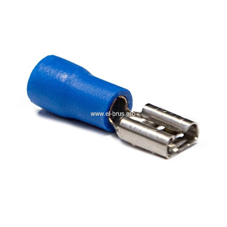 Разъем плоский РпИм 2-5-0,8 синий TDM
