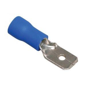 Разъем плоский  РпИп 2-5-0,8 синий TDM