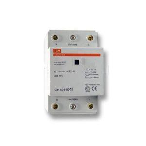 Реле контроля напряжения однофазное 25А 220В TDM АЗМ