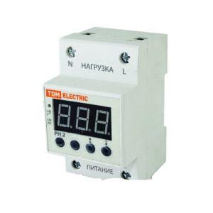 Реле контроля напряжения однофазное с  LED-дисплеем 40А 220В TDM