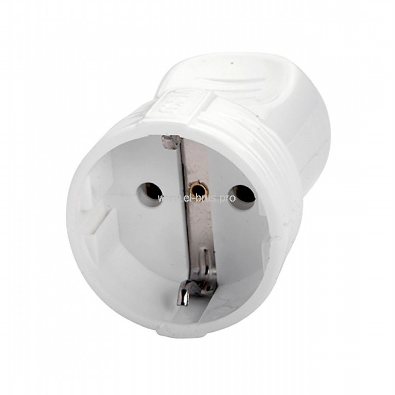 Гнездо штепс. с/з 16А 250В IP20 белое UNIVERSAL