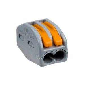 Соединительная клемма с рычажком на 2 провода 0,08-4мм²  WAGO