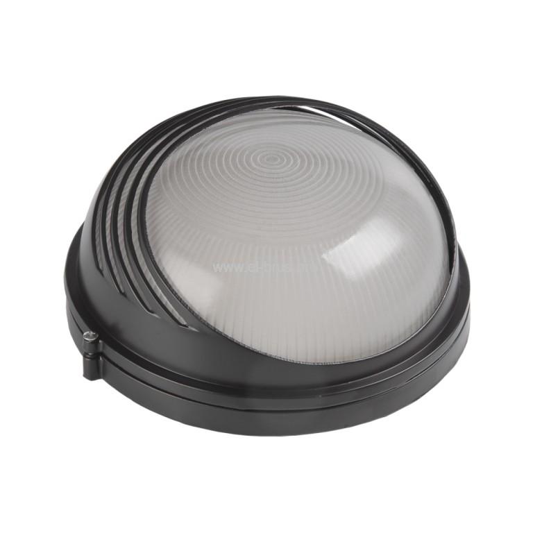 Светильник E27 100Вт IP54 круг/реснички черный ITALMAC