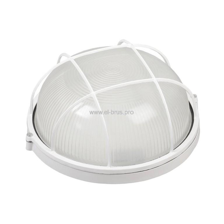 Светильник E27 100Вт IP54 круг/решетка белый TDM НПБ1102