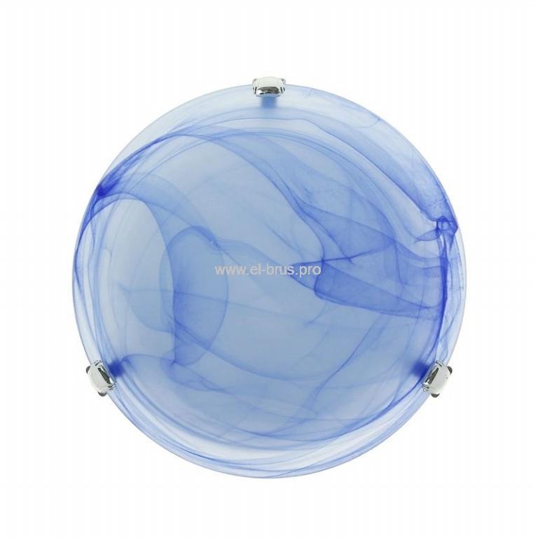 Светильник E27х2  60Вт IP20 декор. круг голубой TDM СД