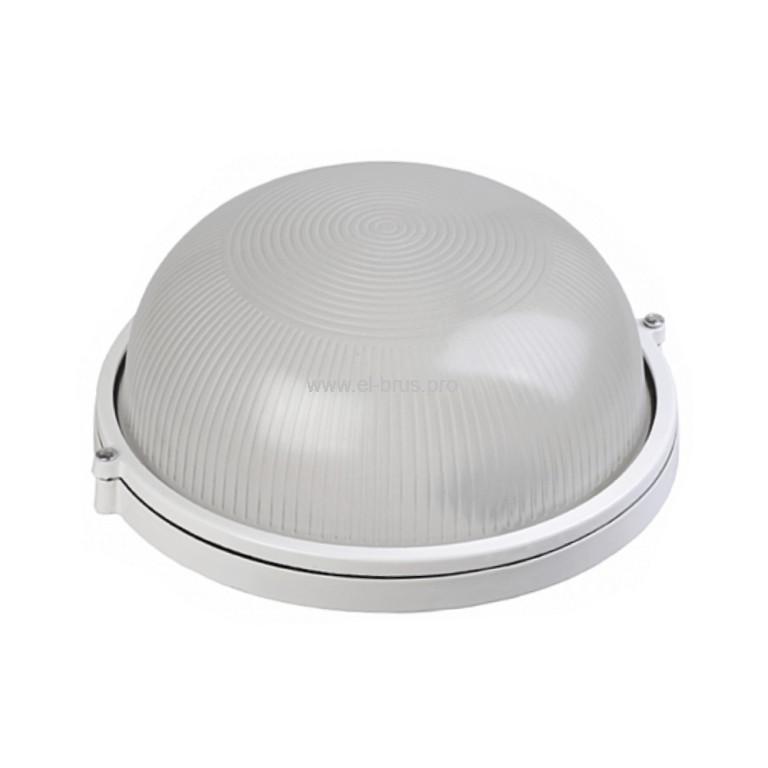 Светильник E27  60Вт IP54 круг белый CAMELION