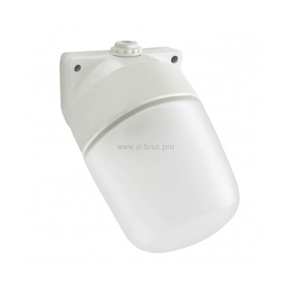Светильник для бани овал наклонный Е27 60Вт белый НПБ400-1 TDM