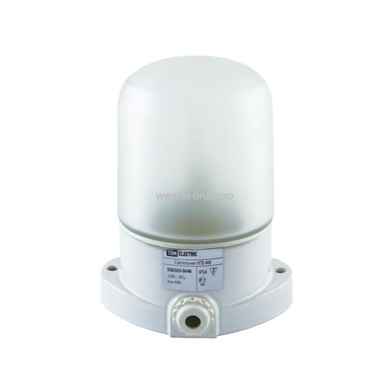 Светильник для бани овал Е27 60Вт белый НПБ400 TDM