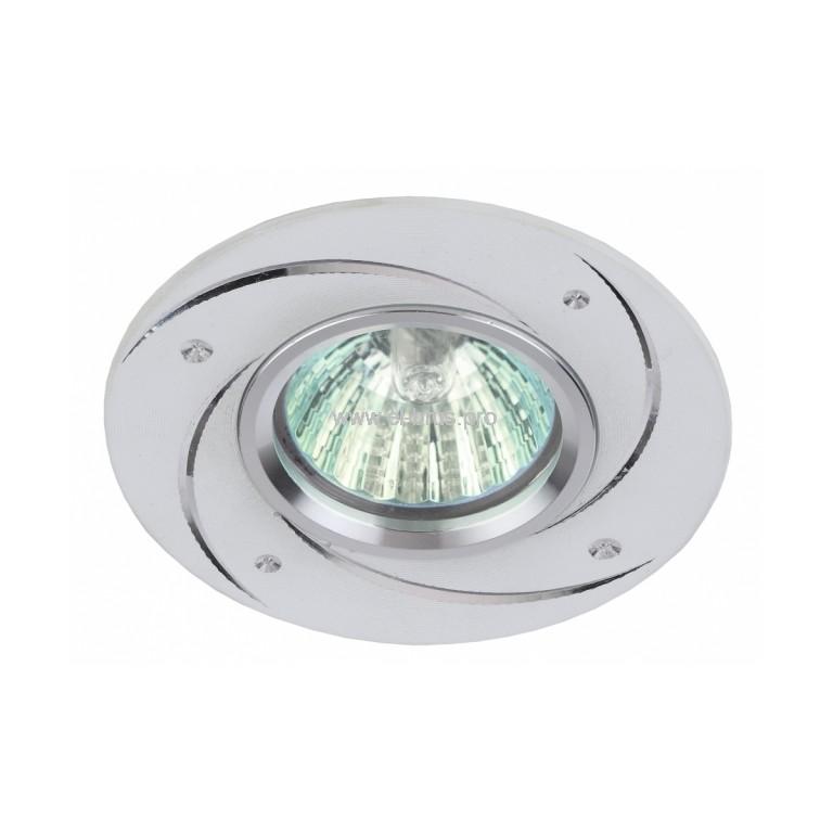 Светильник встраиваемый потолочный хром ЭРА GU5.3 12В/220В 50Вт