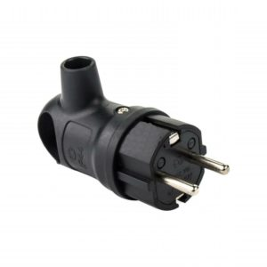 Вилка кабельная каучуковая с ручкой с/з черная 16A 220B IP44 LEZARD
