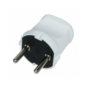 Вилка электрическая штепсельная  6А 250В белая MAKEL