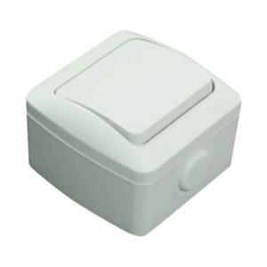 Выключатель 1-клавишный о/у серый 10A 250V IP54 EL-BI Eva