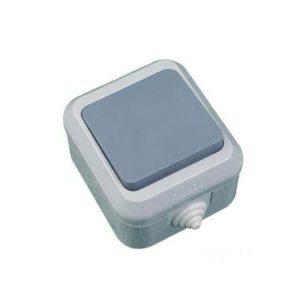 Выключатель 1-кл проходной о/у 10А 250В IP44 серый MAKEL Nemliyer