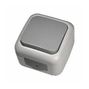 Выключатель 1-кл о/у  IP54 серый VIKO Palmiye