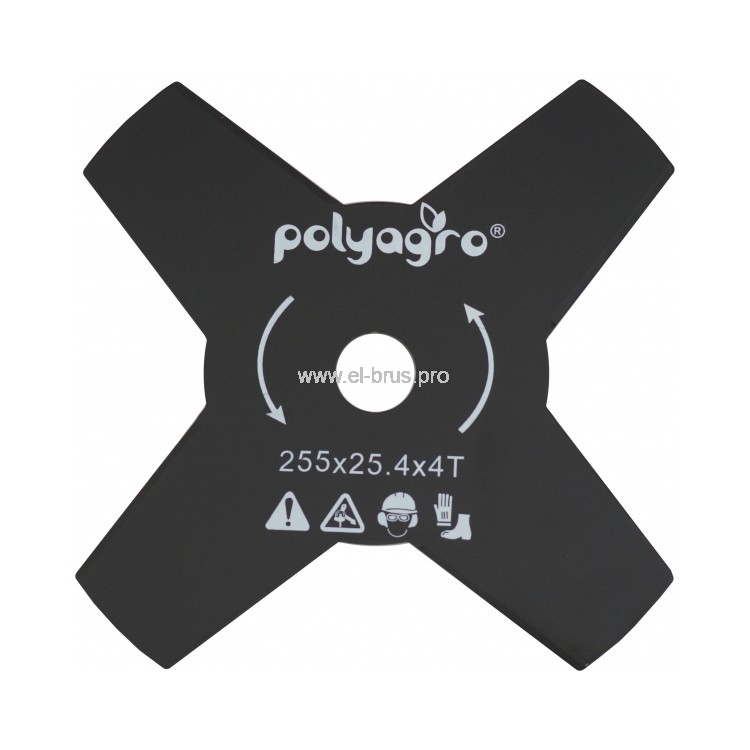 Диск для триммера POLYAGRO Ø255х25,4мм 4-лоп. 1,4мм