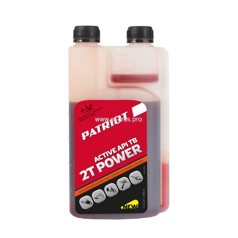 Масло моторное минер. 2Т PATRIOT Power Active 946мл дозатор